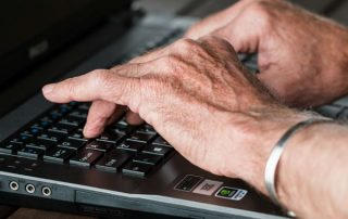 older hands, typing