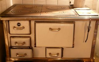 old, oven, stove