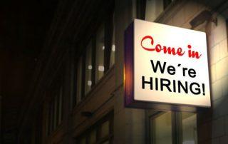 sign, hiring