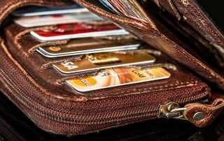 wallet, credit cards