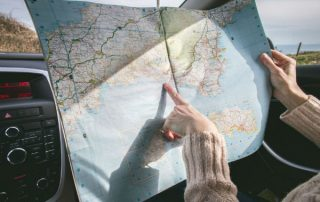 car, travel, map
