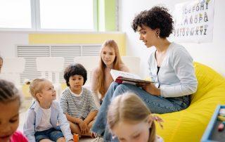 students kids classroom